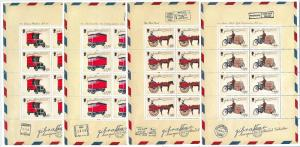 64455 -  GIBRALTAR - STAMPS - 2013 EUROPA CEPT:  Vehicles  MINIATURE SHEETS