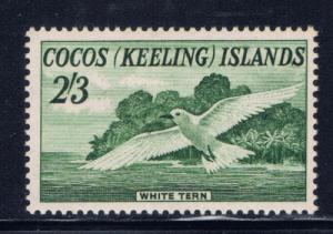 Cocos Is #6 Hinged 1963 White Tern