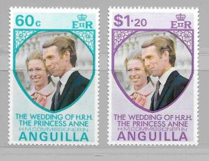Anguilla 179-80 Princess Anne Wedding set MNH
