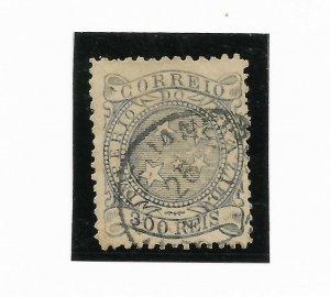 BRAZIL YEAR 1884 - 1888 300R Blue Scott 94 Michel 63 Used VF