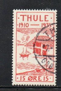Greenland Thule Facit T2 15 ore ship local stamp used