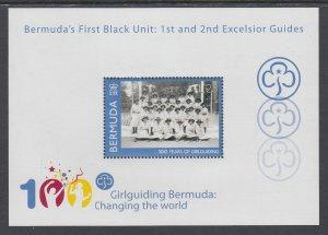 Bermuda 1005 Girl Guides Souvenir Sheet MNH VF