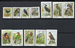 Zambia 1987 1988  Sc # 377-387 CV$30.60 MNH