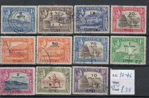 Aden KGVI 1951 New Currency Set To 10/- SG36/46 VFU J5287