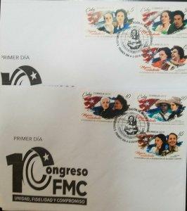 O) 2019 CUBA - CARIBBEAN,COMBATENT WOMEN - FE DEL VALLE - CANDELARIA FIGUEREDO