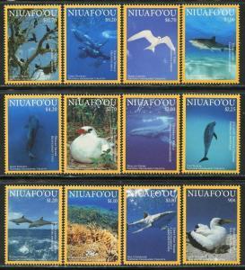 [SOLD] Niuafo ou Tonga 2016 national geographic marine life whales birds set MNH