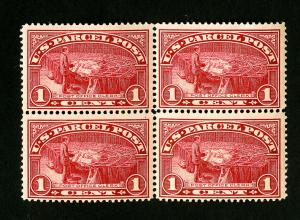 US Stamps # Q1 F-VF Mint Block 4 OG NH