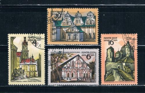 Russia #3992-95 Used Set HR Architectural treasures (R0145)