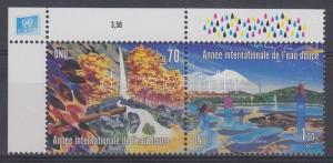 UN Geneva stamp International year of freshwater corner pair MNH 2003 WS121889