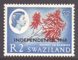 Swaziland Scott 159a - SG160, 1968 Independence 2r Sideways Watermark MH*