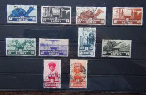 Eritrea 1933 set to 10L Used SG199 - SG208