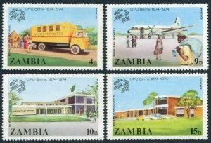 Zambia 127-130,MNH.Michel 133-136. UPU-100,1974.Truck,Plane,P.O.