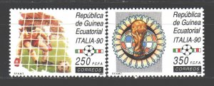 Equatorial Guinea. 1990. 1719-20 from the series. Football. MNH.