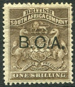 BRITISH CENTRAL AFRICA-1891-95 1/- Grey-Brown Sg 7 MOUNTED MINT V35983