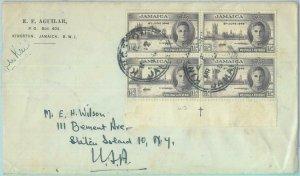 83372  - JAMAICA - POSTAL HISTORY - COVER to USA  1948 - ROYALTY