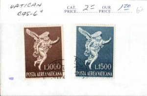 Middlesex Stamps, Vatican City Airmail C45-46, Postally used. cc15
