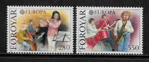 Faroe Is #125-6 MNH Set - Europa - Music