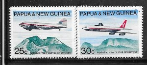 Papua & New Guinea #309-310  Air Craft  (M) CV $3.45