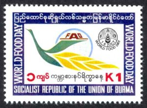 Burma Sc# 296 MNH 1984 World Food Day