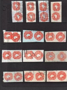 COLLECTION OF EMBOSSED REVENUES ON DOUBLE SIDED PAGE