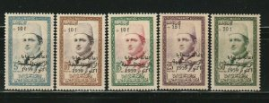 Morocco MAROC STAMPS 1959 SC# B1-B5 Sultan Mohammed V  Surcharged Stamps