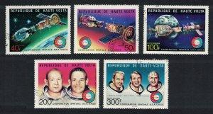 Upper Volta Soyul-Apollon Space Flight 5v 6v 1976 CTO MI#581-585