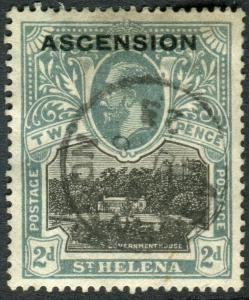 ASCENSION-1922 2d Black & Grey BLOT ON SCROLL.  A good used example Sg 4b