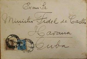 A) 1959, BRAZIL, SENT TO MINISTER FIDEL CASTRO IN HAVANA - CARIBBEAN