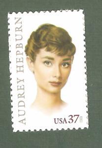 3786 Audrey Hepburn US Single Mint/nh FREE SHIPPING