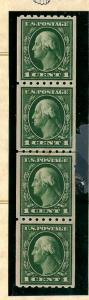 410 Mint,OG,NH... Line Pair strip of 4... SCV $91.00... w/Cert of Authenticity
