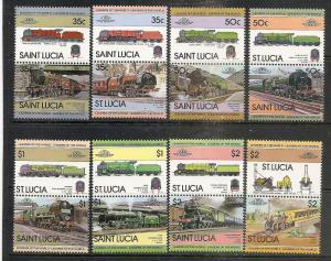St.Lucia  617-24 MNH 1983 Locomotives