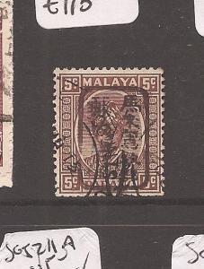 Malaya Jap Oc Pahang 5c brown chop SG J178b VFU (2axl)
