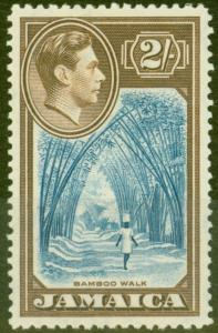 Jamaica 1938 2s Blue & Chocolate SG131 V.F MNH