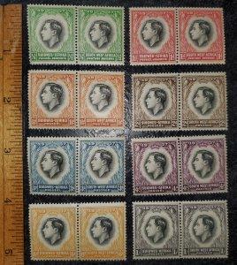Southwest Africa George VI Coronation Issue Scott 125-132 MNH