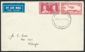 NEW ZEALAND 1937 first flight cover Auckland - Wellington..................56793