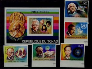 Chad 316-17,C196-99 MNH imperf. Nobel