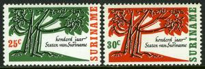 Surinam 337-338, MNH. 100-Year-Old Tree, 1966