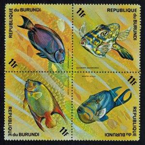 Burundi Scott 454a-454d Mint never hinged.
