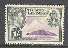 PITCAIRN ISL Sc# 7 USED FVF Island & Fletcher Christian
