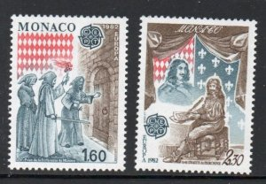 Monaco Sc 1329-30 1982  Europa stamp set mint  NH