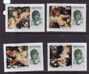 Cook Is.-Sc#687-90- id3-unused NH set-Paintings-Christmas-Princess Diana-1982-