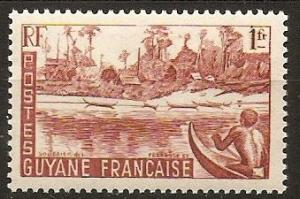 1947  French Guiana Scott 196 Maroni River Bank MLH