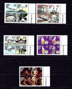 Barbuda 318-22 MNH 1977 Special Events 5 blocks of 4 each