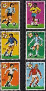 Belize 601-606 1982 World Cup Soccer SET 1981