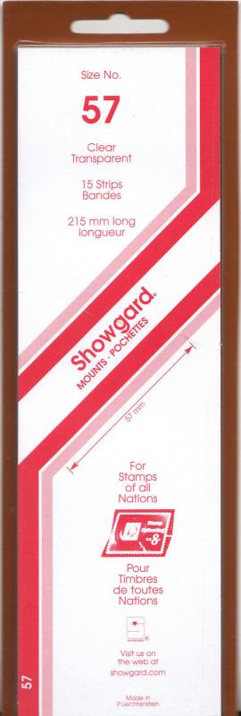 SHOWGARD CLEAR MOUNTS 215/57 (15) RETAIL PRICE $9.75