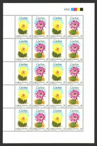 Cactus Cacti flowers URUGUAY #1870 MNH full sheet difficult to get