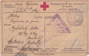 russia world war1 red cross prisoner of war stationary card ref r13190