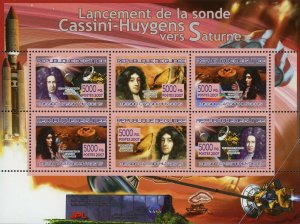 Christiaan Huygens Stamp Missions to Saturn Space Satellite S/S MNH #5295-5300