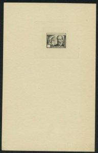 CZECHOSLOVAKIA SMETANA SC# 386 DIE PROOF ON LARGE CARD RARE AS SHOWN