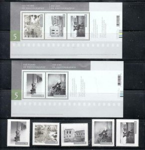 CANADA # 3012-3016+3010+3011 150YEARS OF CANADIAN PHOTOGRAPHY SET AND S/SHEETS